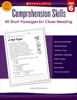 Comprehension skills grade 6