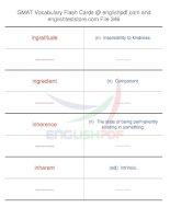 GMAT vocabulary flash cards346