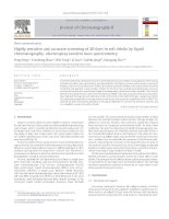Highly sensitive and accurate screening of 40 dyes in soft drinks by liquid chromatography–electrospray tandem mass spectrometry