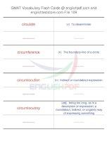 GMAT vocabulary flash cards109
