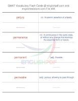GMAT vocabulary flash cards494