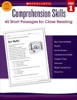 Comprehension skills grade 1