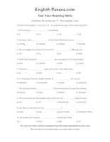 complete the sentences intermediate level 7