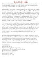 Bài luận mẫu theo chủ đề ( phần 6)