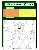 2651 read and colour snow fun