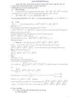 Chuyen de phuong trinh vo ty đầy đủ các dạng và phương pháp giải(hot)