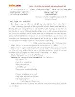 Đề thi giữa học kì 1 môn Ngữ văn lớp 11 trường THPT Chuyên Nguyễn Quang Diêu, Đồng Tháp năm học 2015 - 2016