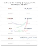 GMAT vocabulary flash cards205