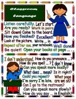 13008 classroom language  poster