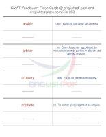 GMAT vocabulary flash cards50