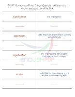 GMAT vocabulary flash cards609
