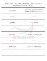 GMAT vocabulary flash cards541
