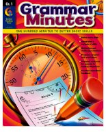 Grammar minutes gr 1 by carmen s jones