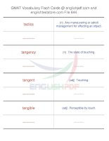 GMAT vocabulary flash cards644