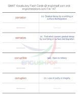 GMAT vocabulary flash cards147