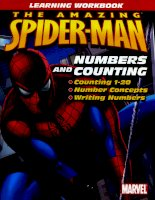 Spider man numbers counting workbook