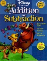 Disney learning addition and substraction