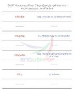 GMAT vocabulary flash cards344