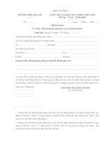 Mẫu thông báo thay đổi nội dung đăng ký kinh doanh hộ kinh doanh - Phụ lục III-3