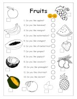 4245 do you like apples  fruits worksheet