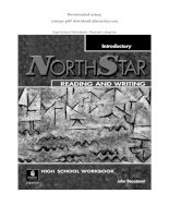 NORTHSTAR READING AND WRITING   pearson longman introductory