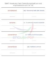 GMAT vocabulary flash cards142