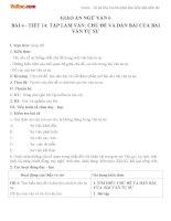 Giáo án Ngữ văn 6 tuần 4 tiết 14