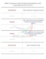 GMAT vocabulary flash cards212