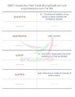 GMAT vocabulary flash cards549