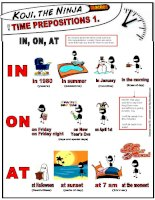 7641 koji the ninja teaches time prepositions in on at
