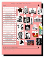 3166 vocabulary matching worksheet  quiz  american icons  landmarks