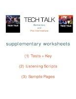 TECH TALK supplementary worksheets