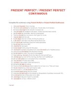 20277 present perfect  present perfect continuous