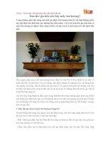 Bàn thờ gia tiên nên bày mấy bát hương?