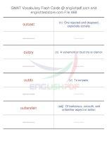GMAT vocabulary flash cards468