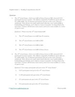 English grade 11   reading comprehension test 03