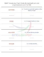 GMAT vocabulary flash cards596