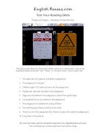 playground signs reading comprehension ir15