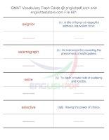 GMAT vocabulary flash cards601