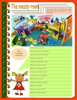 3244 the messy room  there be prepositions to be 4 tasks keys included 3 pages editable