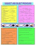 17049 subject and object pronouns