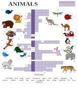 57682 animal picture crossword
