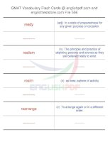 GMAT vocabulary flash cards556