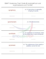 GMAT vocabulary flash cards642