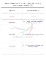 GMAT vocabulary flash cards243