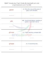 GMAT vocabulary flash cards288