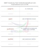 GMAT vocabulary flash cards548