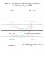 GMAT vocabulary flash cards246