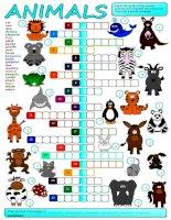 12857 animals  crossword