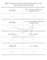 GMAT vocabulary flash cards590